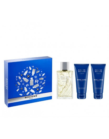 Estuche de regalo EAU DE  ROCHAS HOMME (EDT 100+AFTER SHAVE 100 + GEL 100